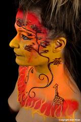 Afrika (Axel Khan) Tags: africa portrait art face gesicht body kunst afrika bodypainting krperkunst