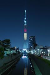 P5220476 (Zengame) Tags: tower japan architecture night pen tokyo belgium illumination landmark olympus illuminated jp   belgian zuiko  penf     skytree   tokyoskytree  mzuiko 12mmf20 mzuikodigitaled12mmf20 livecomposite