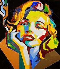 Stained glass portrait of Marilyn Monroe, Pop Art (blashchukartstudio) Tags: marilynmonroe stainedglass popart
