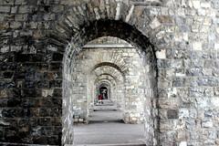 arches of Grand Pont (overthemoon) Tags: red stone architecture grey schweiz switzerland vanishingpoint suisse arches lausanne svizzera vaud romandie grandpont pointdefuite notthegccvanishingpoint