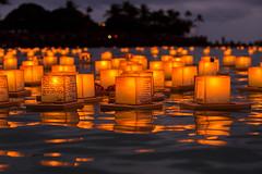 Hawaii Lantern Floating Ceremony 2016 (Anthony Quintano) Tags: ocean beach hawaii waikiki ceremony floating lanterns hi honolulu lantern alamoanabeachpark 2016 floatinglanterns hawaiilanternfloatingceremony