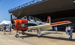 Static Display (Kool Cats Photography over 7 Million Views) Tags: red white oklahoma plane airplane photography flying outdoor aircraft aviation navy airshow beechcraft trainer t28c ef24105mmf4lisusm canoneos6d