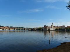 Charles Bridge - Prague (mcmillan_ra) Tags: bridge reflection river lumix republic czech prague charles panasonic czechrepublic fz200