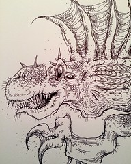 Dimetroterrorsaur (pickledpunk) Tags: art monster illustration weird sketch dinosaur drawing reptile lizard lowbrow finback dimetrodon dinosaurart