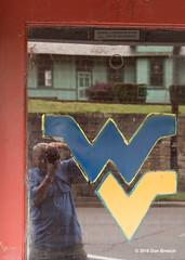 west virginia flood-self portrait (dfbphotos) Tags: summer usa reflection nature water june river flood places wv westvirginia fayetteville 2016 gauleybridgegauleyriver