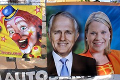 Clowns.....if only Malcolm wasn't in the middle (g*treefrog) Tags: federalelection circus nt clown politicians coalition juxtaposition voting griggs solomon primeminister liberals malcom clp fencesitters marginalseat sittingmember