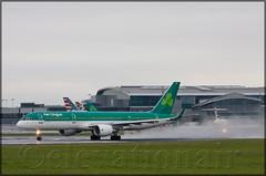 EI-LBR Boeing 757-2Q8/W Aer Lingus (elevationair ) Tags: dublinairport dub eidw airliners avgeek aviation irplane plane hotrod boeing 757 752 boeing7572q8w 727 721 boeing72717rew gordanpgettyannggetty trijet threeholer spray surfacewater overcast cloudy