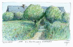 Wolfram Zimmer: Giverny, Monets garden (ein_quadratmeter) Tags: pencil garden painting landscape drawing kunst jardin brush exhibition dessin peinture exhibitions monet colored freiburg landschaft garten giverny bleistift ausstellung zeichnung kirchzarten malerei bleistiftzeichnung pinsel meinzimmer konzeptkunst ausstellungen objektkunst farbstiftzeichnung burgbirkenhof wolframzimmer