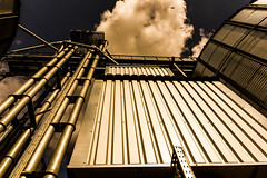 Silo (pyrolim) Tags: landwirtschaft silo metall rohre wolkevgel