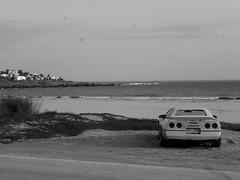 pri (Ale.Salgado) Tags: auto mar playa punta corvette colorada