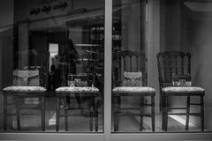 (zumponer) Tags: street city summer urban reflection fashion canon 50mm blackwhite chairs florida purse dslr palmbeach handbag purses wealth louisvuitton canon5dmarkii