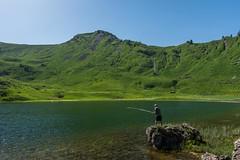 Pche au lac de Roy (peterfatson) Tags: summer mountain lake montagne fishing pentax lac t wr k3 pche 1685 lacderoy pentaxart