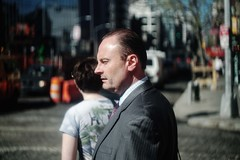 Phil (BlueRaven.) Tags: nyc philcollins executive suit rushhour helios44 portraits lowereastside downtown