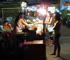 Street Food, Pattaya, Thailand (CrazyAsiaDotNet) Tags: life road street people food night asian thailand asia market south scene tai thai orient pattaya 2012 chonburi crazyasia banglamung fareastasia