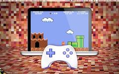 MacBook Pro Retrod Gaming Desktop (TonyAllenPrice) Tags: desktop bowtie mario gaming macosx geektool lifehacker