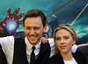 Tom Hiddleston and Scarlett Johansson Stars of the new movie 'The Avengers' attend a photocall in Rome Rome, Italy