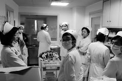 Nurses (A. adnan) Tags: china work hospital uniform fuji health guangdong service nurse clinic nurses zhongshan profession x100