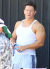 Mark Wahlberg films a chase scene for the movie 'Pain and Gain' Miami, Florida