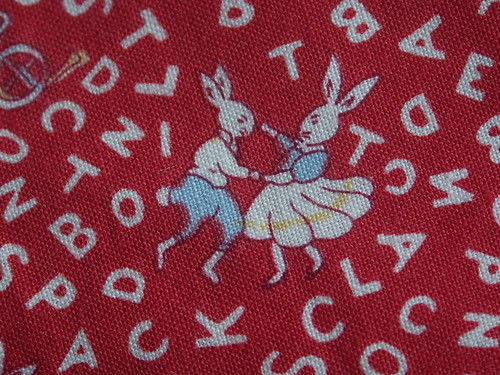 Dancing bunnies fabric