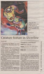 I was in the Weekly Herald... (heathermariecarr) Tags: show dark painting mixed media acrylic gallery 2012 heathercarr heatherunderground