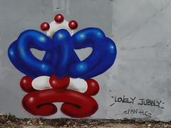 Horror Crew (HowAboutNo!) Tags: street brick london art june balloons jubilee lane crown 2012 spangle