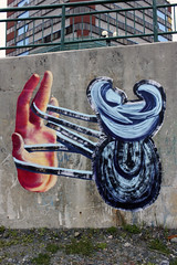 Nanook (Tekar !) Tags: street streetart art newfoundland painting paper wheatpaste paste wheat stjohns baltimore brush urbanart aerosol nanook stowaways colouredboxproject urbaninterventionurban