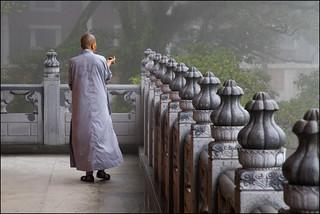 Buddhist Monk - Po Lin Monastery - Ngong Ping village