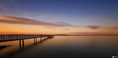 Lake Constance (I) (Daniel Wildi Photography) Tags: longexposure sunset water clouds switzerland pier jetty 2012 lakeconstance altnau cantonofthurgau danielwildiphotography