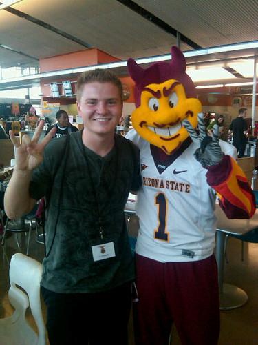 Jacob Nelson and Sparky ASU!