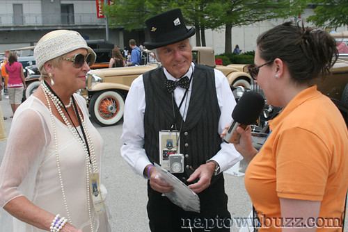 """Indy 500 Opening Day: Vintage Car Couple • <a style=""""font-size:0.8em;"""" href=""""http://www.flickr.com/photos/78612590@N05/7212941794/""""  on Flickr</a>"""