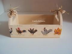 Mini caixote Galinhas (To Fazendo Art por Camila Belizario) Tags: mini galinhas caixotes