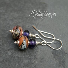 """Deco Rocks purple and pink earrings • <a style=""""font-size:0.8em;"""" href=""""https://www.flickr.com/photos/37516896@N05/7251225514/"""" target=""""_blank"""">View on Flickr</a>"""