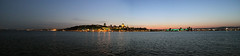 La Ville de Qubec (annabellemartensen) Tags: sunset panorama canada water beautiful saint ferry skyline night canon river de landscape lights lawrence quebec dusk capital wideangle panoramic qubec 7d quebeccity dslr province ville saintlawrenceriver villedequbec qubeclvis