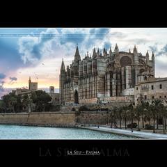 La Seu - Palma (AKfoto.fr) Tags: sunset canon cathedral tamron mallorca palma laseu 550d lr4 175028