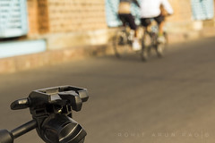 28 (Rohit Arun Rao) Tags: cyclists tripod bicycles himayatsagar