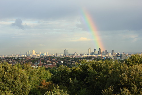 Rainbow over London!