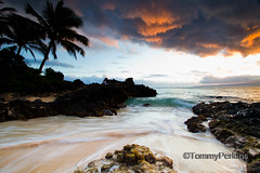 out of kilter (Tommy Perkins Photos) Tags: beach cove secret cave makena makenacove cloudsstormssunsetssunrises mauihawaiihawiian