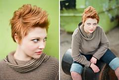 Eileen, Basic (Sandy Phimester) Tags: hair green pop clean film portra mamiya protl 645 vibrant