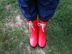 Tretorn Themsen Wellies (camilla157) Tags: red boots rubber wellies gummistiefel themsen tretorn