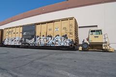 SHIP • MAYOR (TRUE 2 DEATH) Tags: railroad art train graffiti ship mayor tag graf trains railcar boxcar railways d30 railfan freight freighttrain rollingstock benching freighttraingraffiti