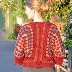Granny Shrug (back) (Kiwi Little Things) Tags: handmade crochet cardigan shrug grannysquare