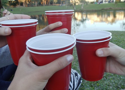Red cup, you know, I fly solo, solo