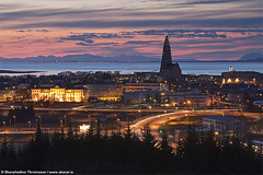 Reykjavik - The Capital City - Iceland (skarpi - www.skarpi.is) Tags: ocean city sunset night island lights town iceland twilight cityscape nightscape borg capital may citylife thecity reykjavik ma citylights reykjavk sland hallgrmskirkja kirkja akranes thecapital faxafli borgin reykjavikcity hfuborg hfuborgin hfuborgslands thecapitaloficeland