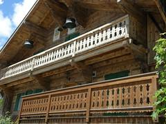P6050012 (keepps) Tags: wood summer house mountains alps schweiz switzerland pattern suisse balcony line chalet vaud leysin parallelline