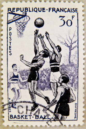 stamp France 30 F Basket Ball basketball postes timbres postage poste timbre Republique Francaise 切手 bélyegek Franciaország pullar Fransa posta ücreti 30f Damga pulu selo França francobolli Francia sello 邮票 法国 yóupiào Fǎguó почтовая марка Франция ongkos