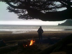 Found some coals and made a killer fire (Sam Beebe) Tags: beach oregon coast iphone oswaldweststatepark shortsands