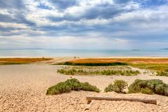 On the shores of Antelope Island (Anna Gorin) Tags: light summer beach water clouds canon landscape utah unitedstates relaxing sigma peaceful antelopeisland saltlakecity greatsaltlake shore 7d hdr photomatix 1750mm