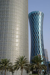 Qatari Architecture (keithmaguire ) Tags: trees architecture modern buildings asian asia downtown commerce skyscrapers district central palm east business commercial cbd middle economy doha qatar finance catar  katar    qatari      dauha   addawa     dauh