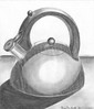 Old Kettle (Human Susan) Tags: old art pencil drawing kettle ebony stainless steal