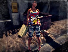 ..:: OUTFIT 12 ::.. (NyTrO StOrE) Tags: street urban woman man store mesh wear clothes hip hop styel nytro